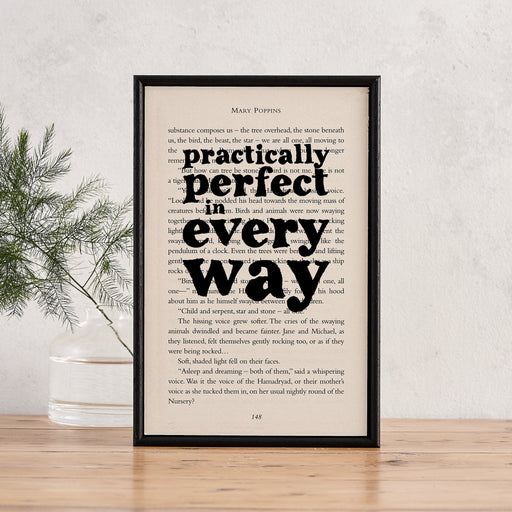 mary poppins print practically perfect in every way gifts