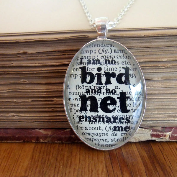 Jane Eyre famous quote silver necklace