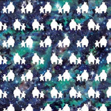 Wrapping Paper Sheets - Christmas Celestial Bear And Cub Design