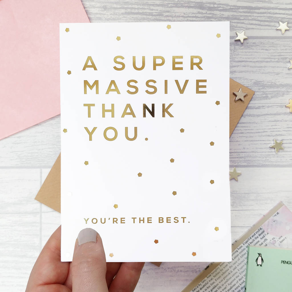 6f4f51928c470 Gold Foil 'You're The Best' Thank You Card