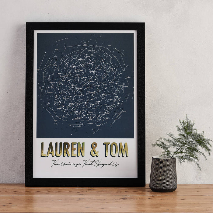 Typographic Map of the Stars Print