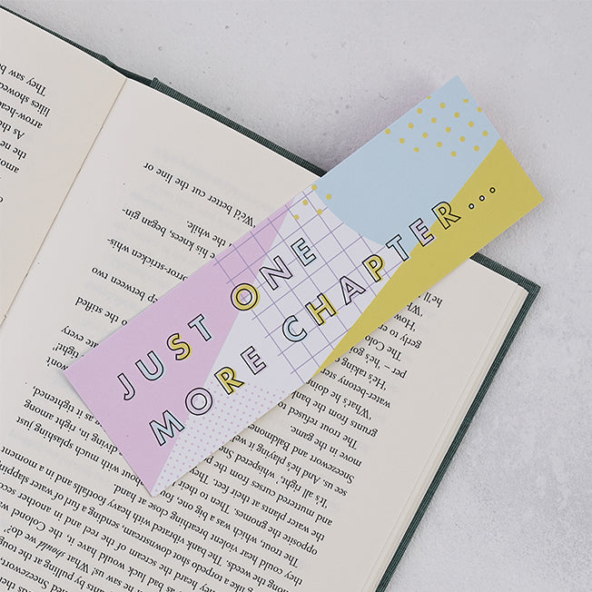"Pastel ""Just One More Chapter"" Bookmark"