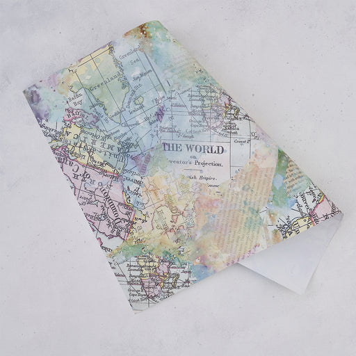 Five Wrapping Paper Sheets - Vintage Map Design