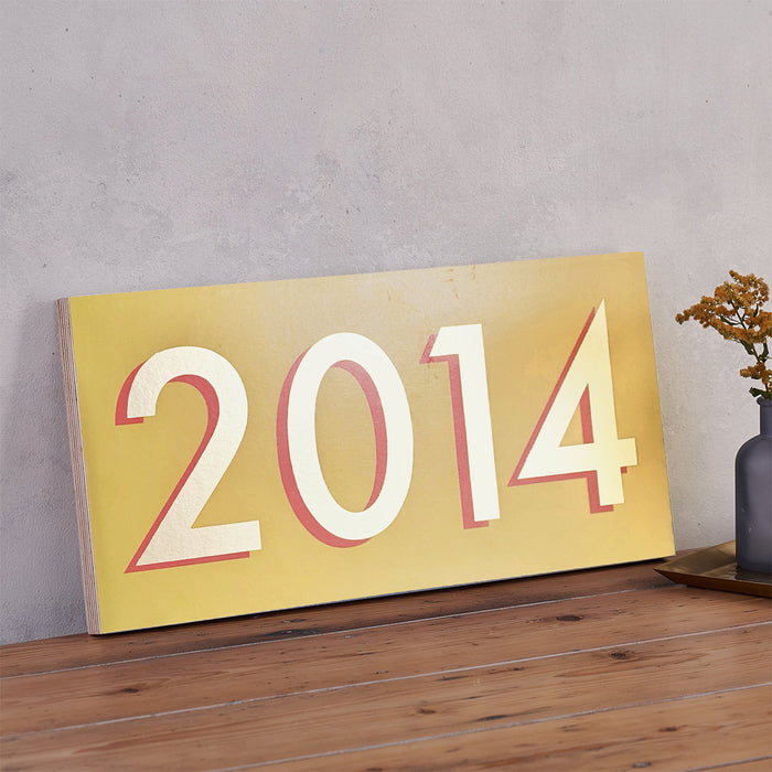 Personalised Modern Style Year Sign