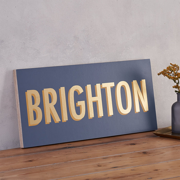Modern Style Personalised Location Sign