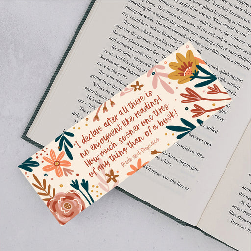 "Book Lover ""No Enjoyment Like Reading"" Pride and Prejudice Bookmark"