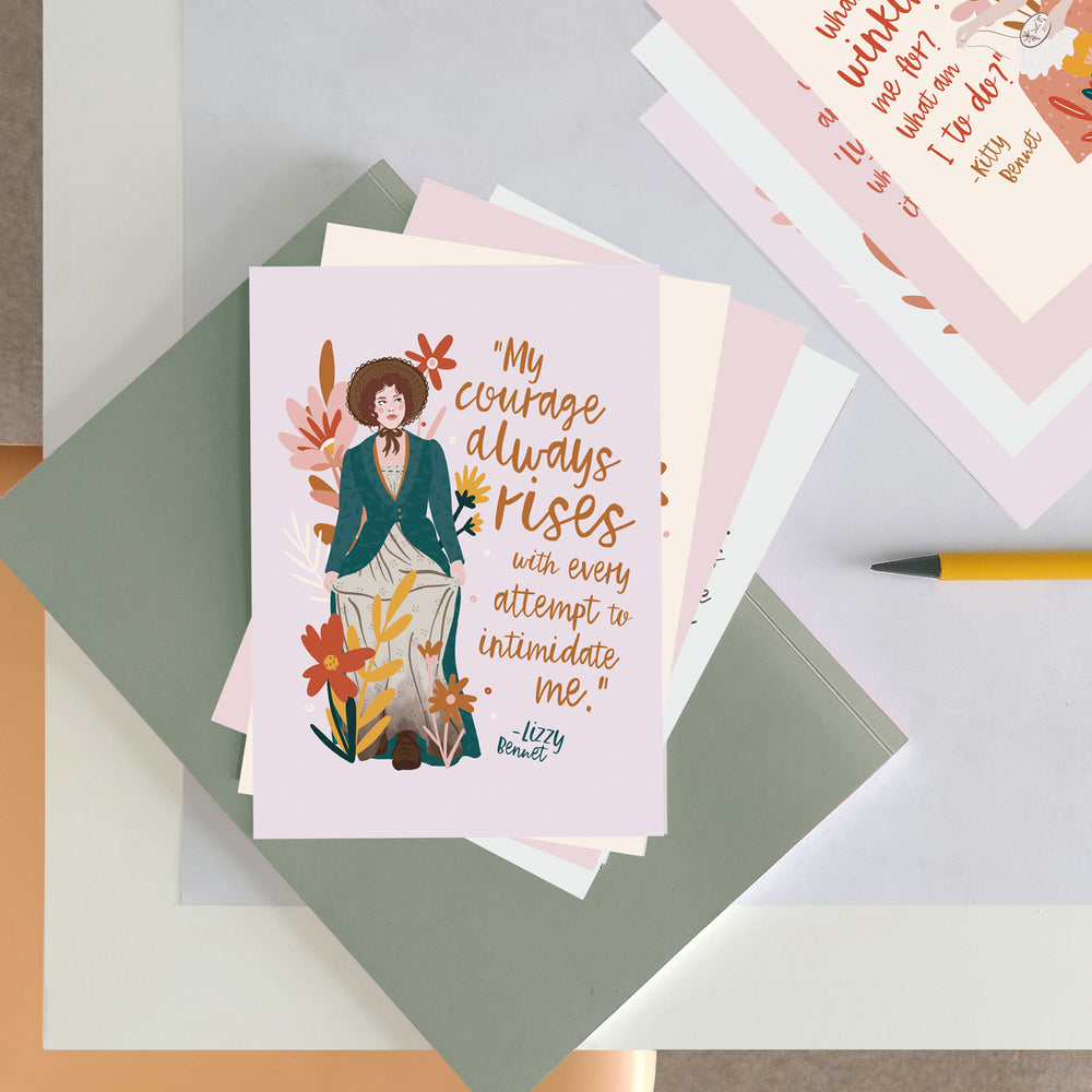 The Bennet Sisters - Pride and Prejudice Postcard Set - Pack of Five