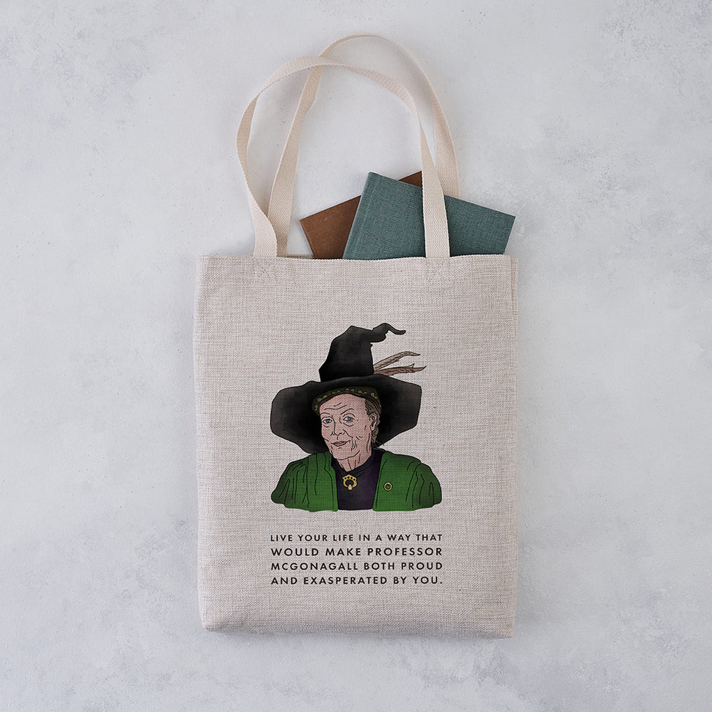 Book Lover McGonagall Funny Tote Bag
