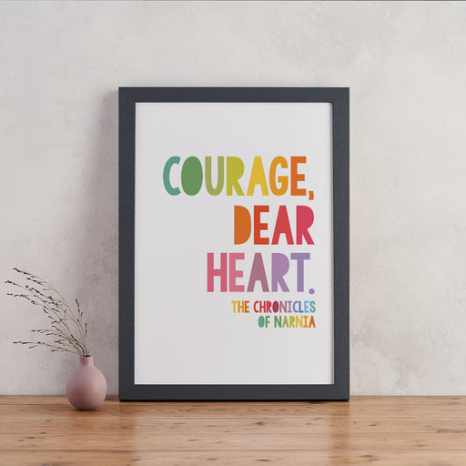 "CS Lewis Quotes ""Courage"" Children's Wall Art - Scandinavian Print"