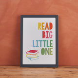 """Read Big, Little One"" Children's Wall Art - Scandinavian Print"