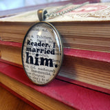 Jane Eyre famous quote necklace