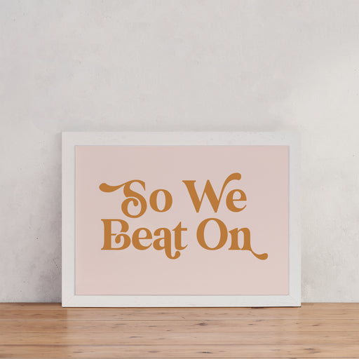 "The Great Gatsby ""So We Beat On"" Retro Wall Art"