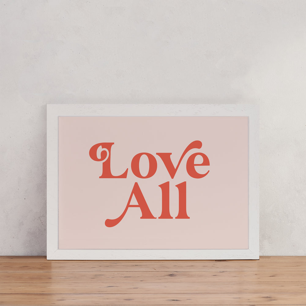 "Shakespeare ""Love All"" Retro Wall Art"