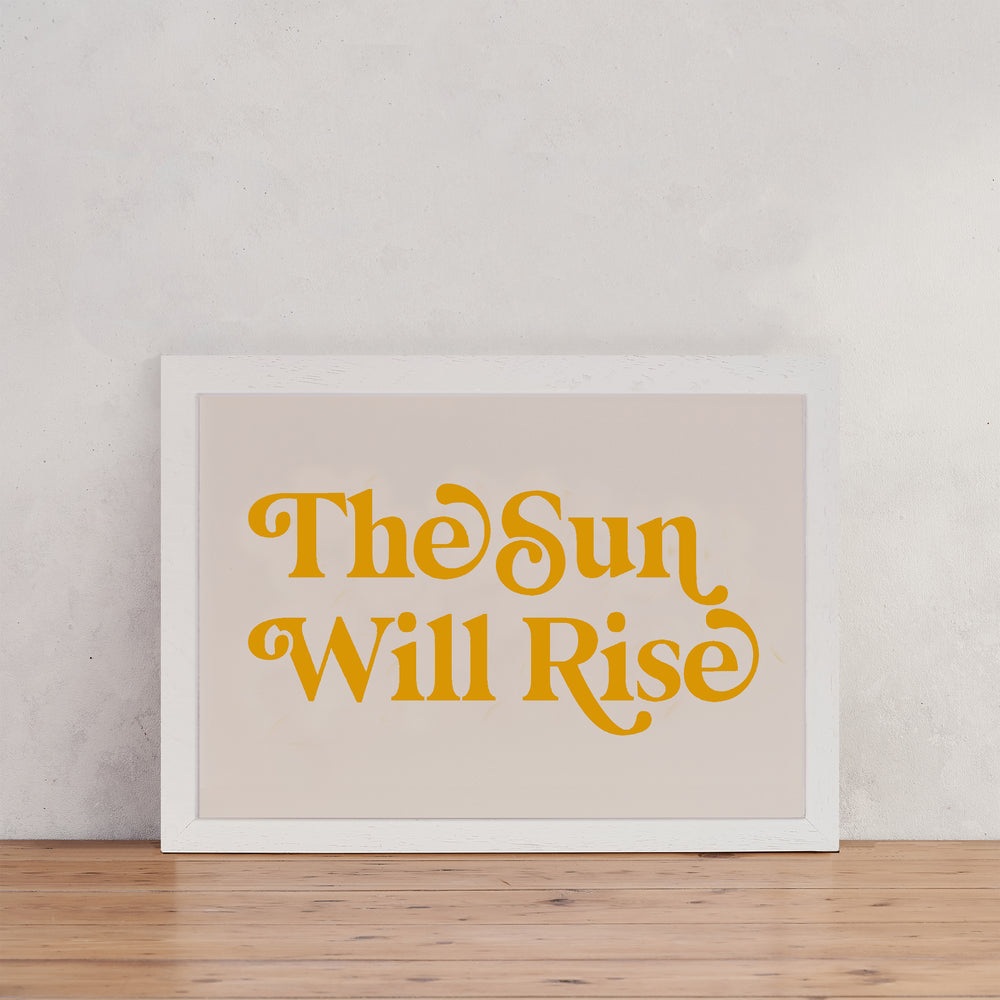 Les Miserables The Sun Will Rise Retro Wall Art