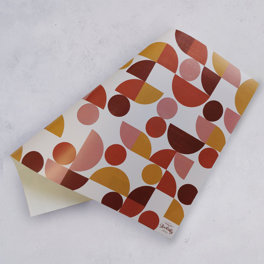 Five Wrapping Paper Sheets - Retro Geometric Design