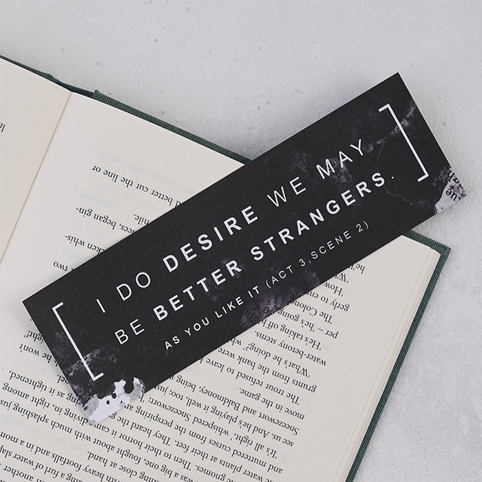 "Shakespeare ""I Do Desire"" Bookmark"