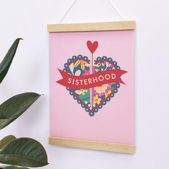 sisterhood print feminist gift for her to brighten up your home decor.