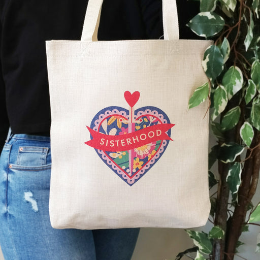 tote bag best friend gift to celebrate the sisterhood, a great feminist bag for her