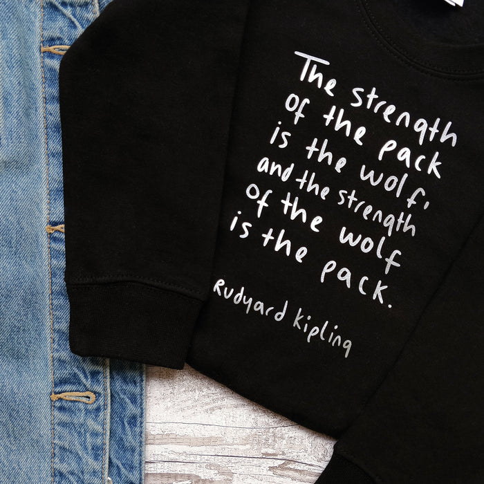 "The Jungle Book  ""Strength Of The Wolf"" Children's Sweatshirt"