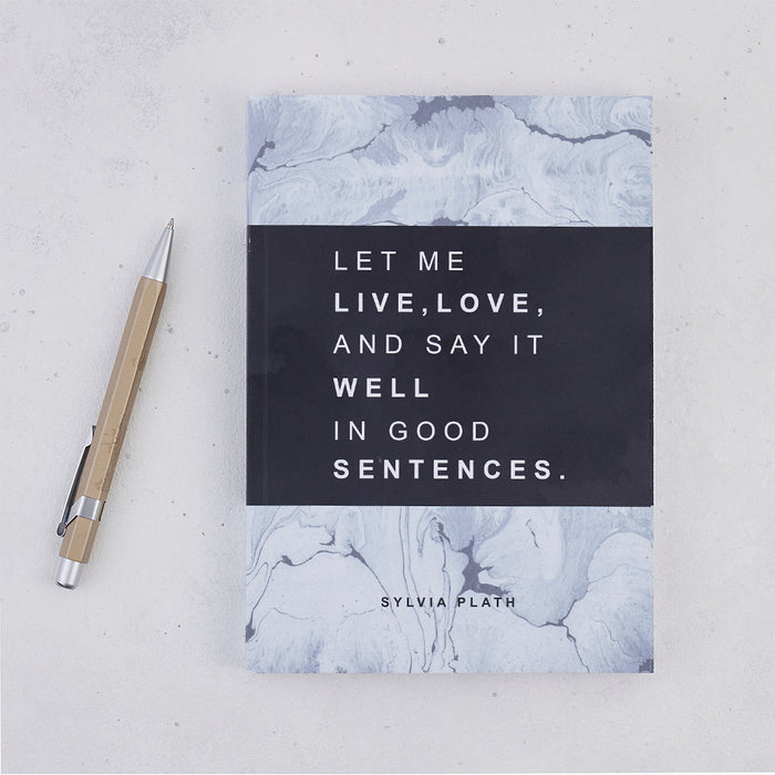 Writing Journal 'Let Me Live, Love' Sylvia Plath Gift