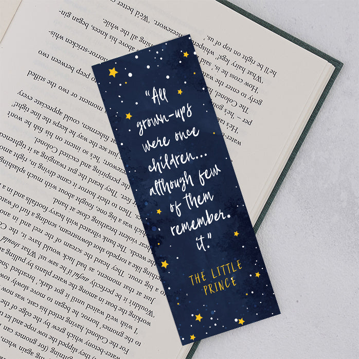 "The Little Prince ""All Grown Ups Were Once Children"" Bookmark"