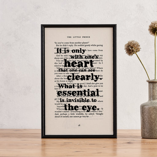"The Little Prince ""It Is Only With One's Heart..."" Framed Book Page Art"