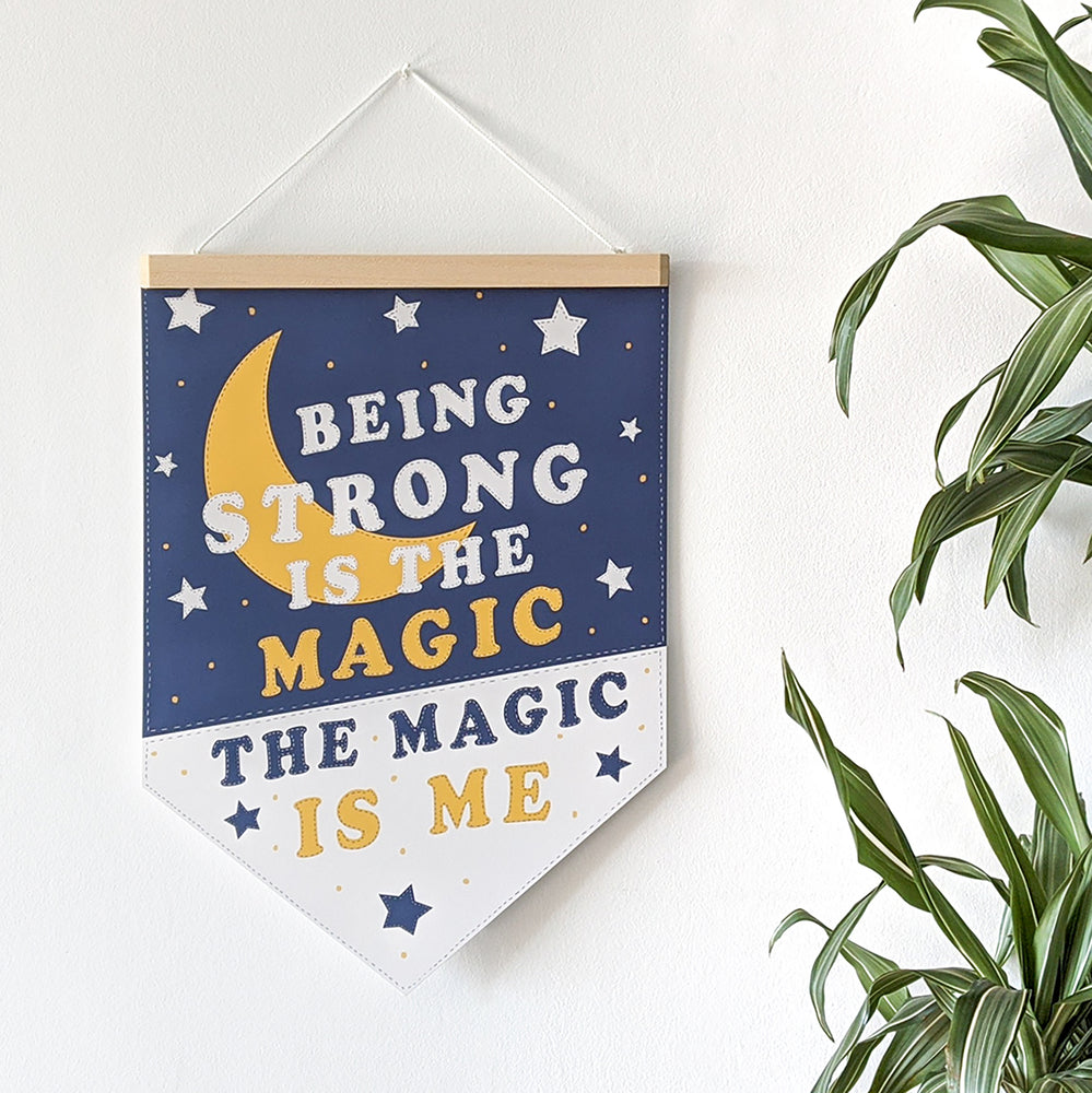 Empowering 'The Magic is Me' Pennant Print