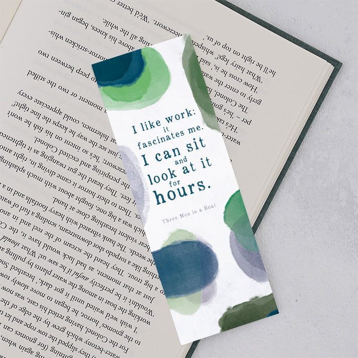 "Three Men in a Boat ""I Like Work"" Bookmark"