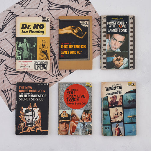 Vintage James Bond Mini Library