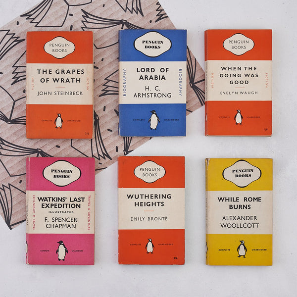 vintage book library bundle of penguin books