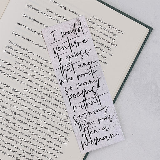 "Virginia Woolf ""Venture To Guess"" Bookmark"