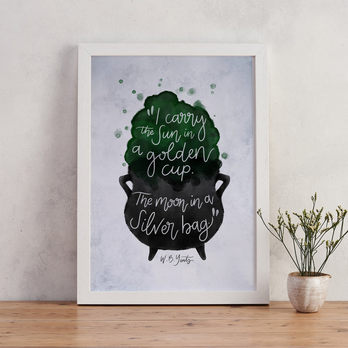 W.B Yeats Sun and Moon Quote Magic Print