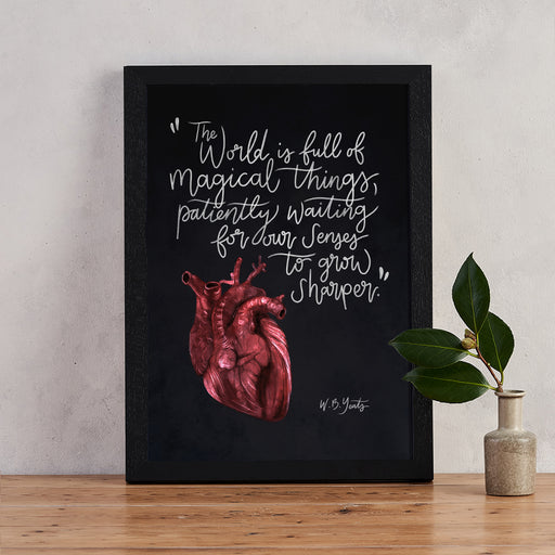 W.B Yeats Magic Quote Gothic Art Print