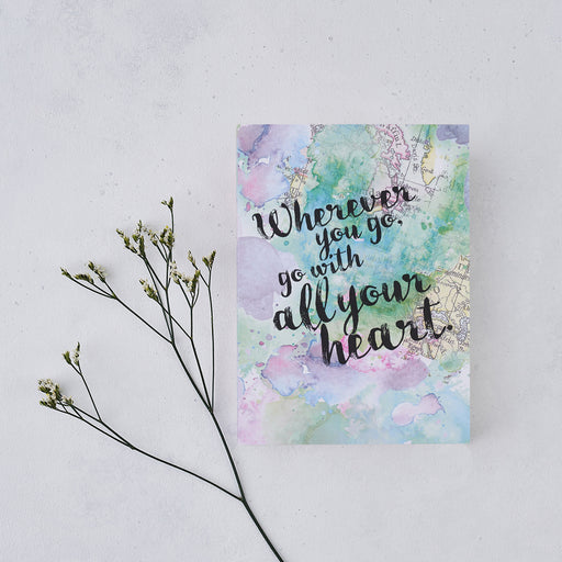 """Wherever You Go, Go With All Your Heart"" Writing Journal"
