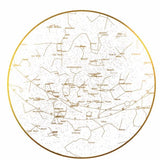 Personalised Star Chart Print - White + Gold Foil