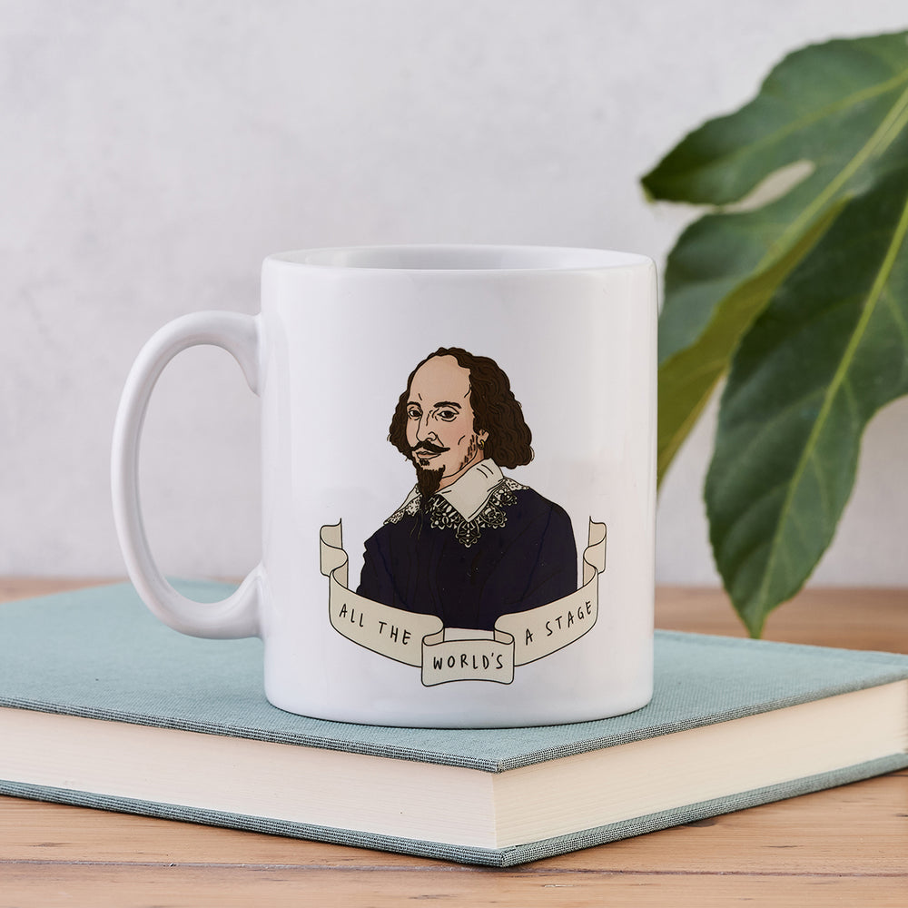 "Shakespeare ""All the World's a Stage"" Illustrative Author Mug"
