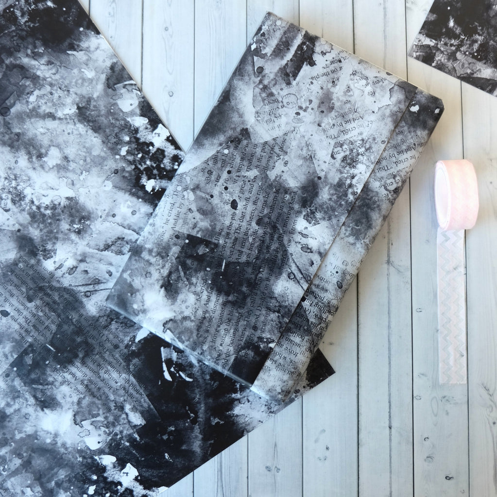 Monochrome Wrapping Sheets for Gifts