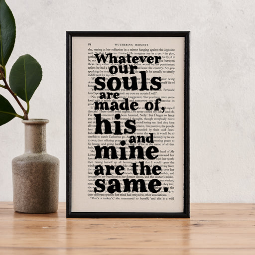 """Whatever Our Souls Are Made Of"" Book Page Print"