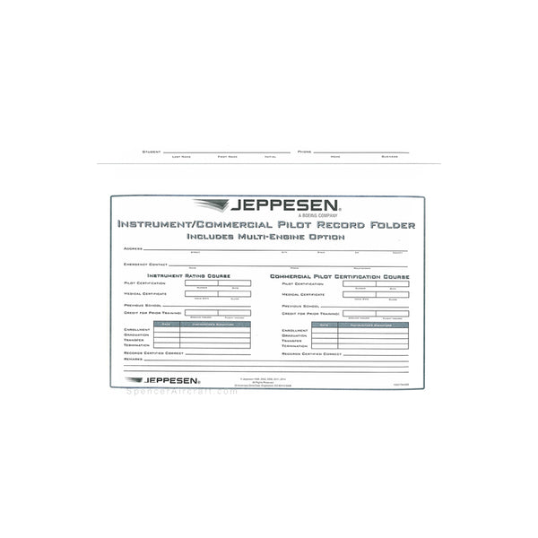 Jeppesen - Instrument / Commercial Record Folder (Individual)