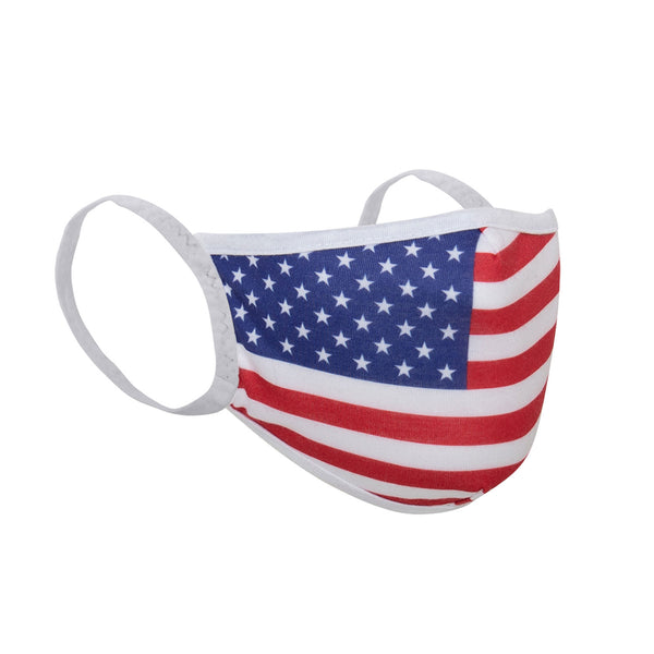 US Flag Reusable 3 Layer Cloth Face Mask