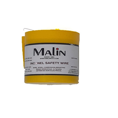 Malin - MS20995N Aviation Inconel Safety Wire, 1lb