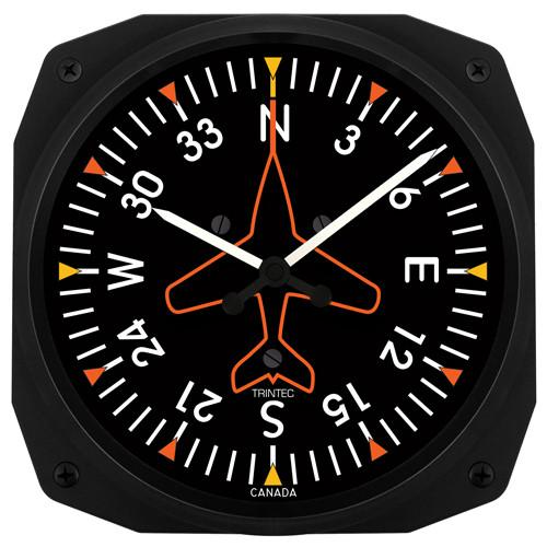 Trintec - 10'' Directional Gyro Instrument Style Clock | 3062-10