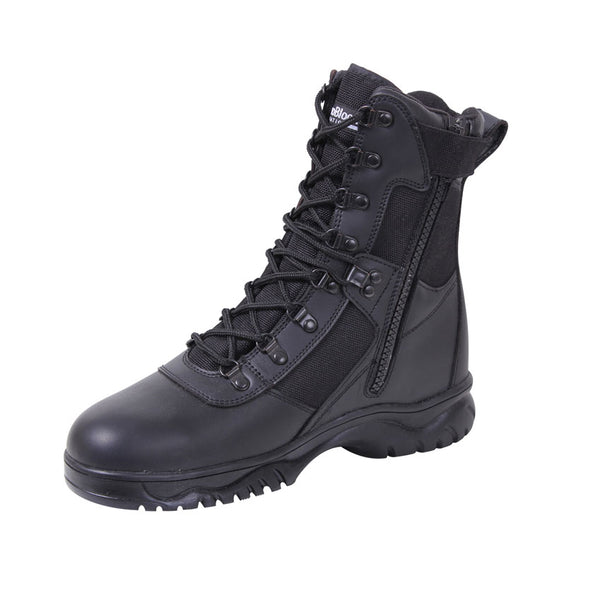 Insulated 8 Inch Side Zip Tactical Boot