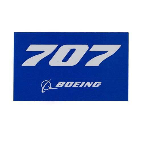 "Boeing - Blue Sticker 707 - 3.75""w"