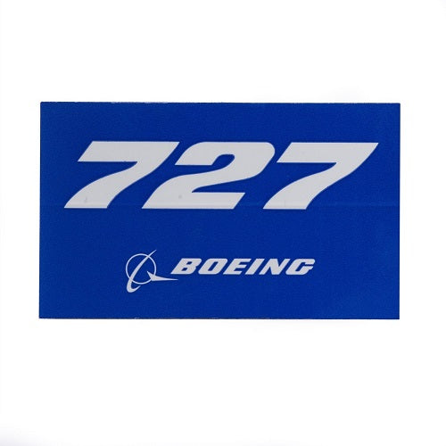 "Boeing - Blue Sticker 727 - 3.75""w"