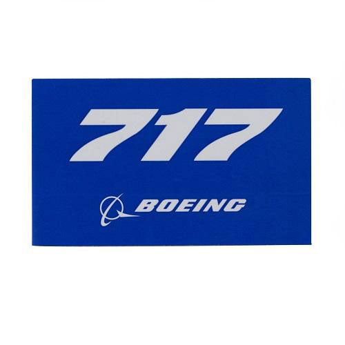 "Boeing - Blue Sticker 717 - 3.75""w"