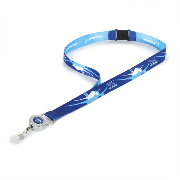 Boeing 787 Dreamliner Shadow Graphic Lanyard