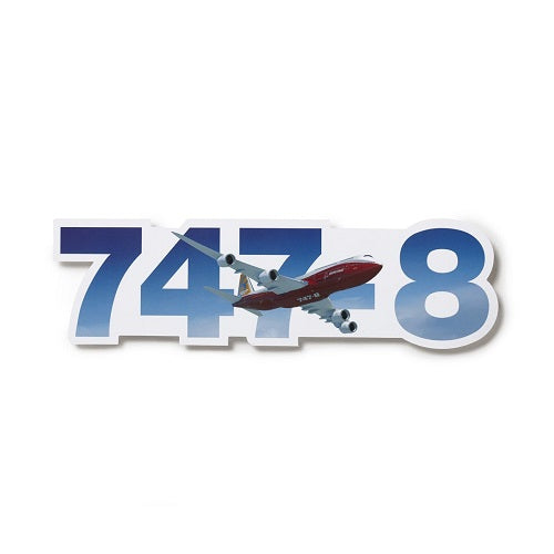 "Boeing - 747-8 Die-Cut Sticker (11""x4"")"