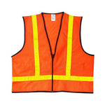 Safety Small Vest Orange, Yellow With Reflective Stripes Class | 63-303