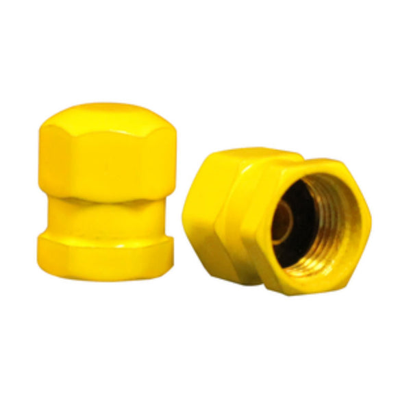 Yellow Brass Aircraft Valve Cap | 637